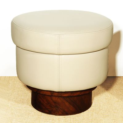 Urban Shop Round Long Hair Mongolian Pouf Round Poufs