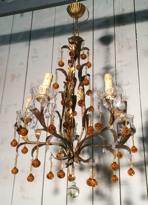 French iron chandelier 1960s for sale at pamono french iron chandelier 1960s 3 mozeypictures Choice Image