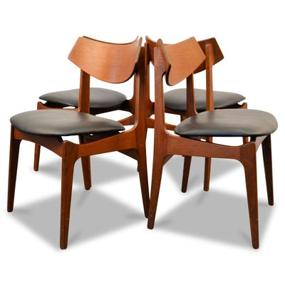 High Quality Danish Teak Dining Chairs From Funder Schmidt U0026 Madsen, 1960s, Set Of 4