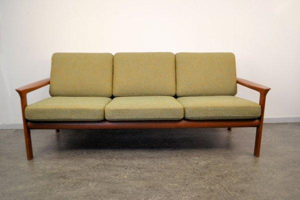 Attractive Teak 3 Seater Sofa By Sven Ellekaer For Komfort, 1960s 2