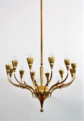Vintage italian brass chandelier from lumi milano en venta en pamono vintage italian brass chandelier from lumi milano imagen 1 aloadofball Images