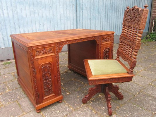 Bureau style colonial french furniture in the eighteenth century