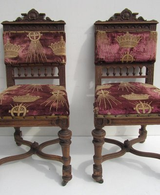Antique Belgium Carved Oak Dining Chairs, Set Of 8 17