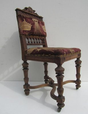 Antique Belgium Carved Oak Dining Chairs Set Of 8 4