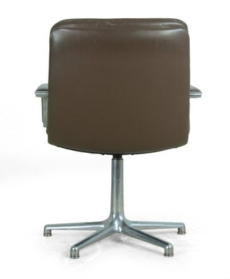 Vintage Leather U0026 Aluminium Desk Chair From Artifort 3