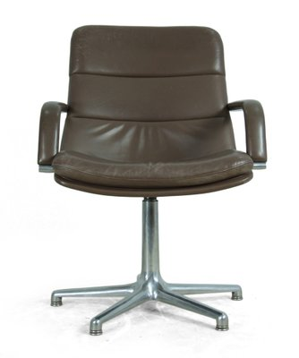 vintage leather office chair. Vintage Leather \u0026 Aluminium Desk Chair From Artifort Office N