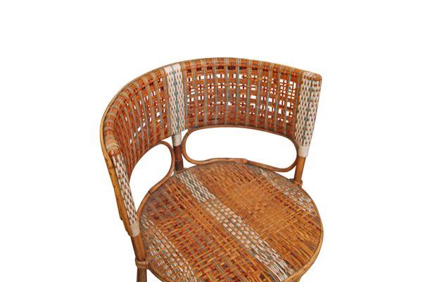Vintage Wicker Armchair By Prag Rudniker For Korbfabrikation 2
