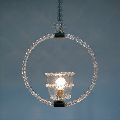 Mid Century Murano Glass Pendant Light By Ercole Barovier For Toso 2