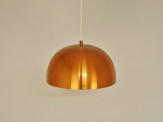 Scandinavian Vintage Copper Pendant Lamp 1960s 3