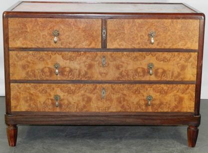 Vintage Large Art Deco Chest Of Drawers S
