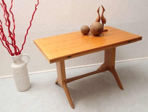 Mid Century Cherry Wood Coffee Table from Wilhelm Renz 1950s for