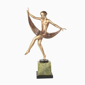 Figurine Arabesque Style Viennois Art Déco Bronze par Lorenzl