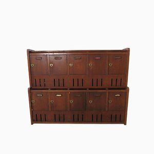 Vintage British Oak Mail Box