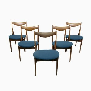 Sculptural Dining Chairs by Kurt Ostervig for Bramin, 1960s, Set of 5
