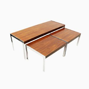Modernist Rosewood Nesting Tables by Richard Young for Merrow Associates, 1970s