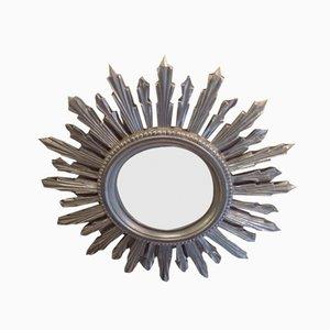 Silver Resin Sunburst Mirror