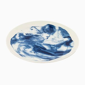 Indigo Storm Dinner Plate by Faye Toogood for 1882 Ltd