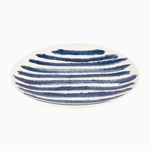 Indigo Rain Dinner Plate by Faye Toogood for 1882 Ltd