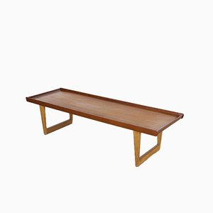 Vintage 5251 Teak and Oak Coffee Table by Børge Mogensen for Fredericia Stølefabrik