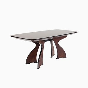 Sculptural Italian Modern Rosewood Dining Table