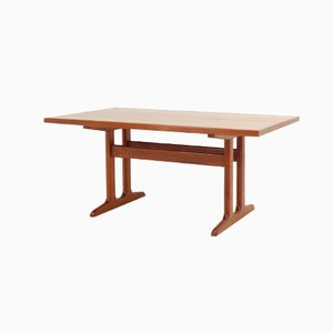 Danish Solid Teak Extendable Dining Table, 1960s