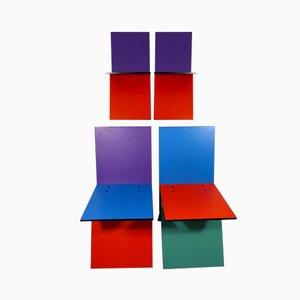 Vintage Vilbert Stühle von Verner Panton für Ikea, 1993, 4er Set