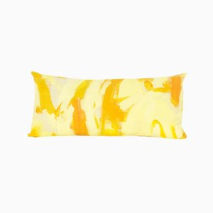 Yellow Two Hue Painted Rectangle Pillow by Naomi Clark for Fort Makers