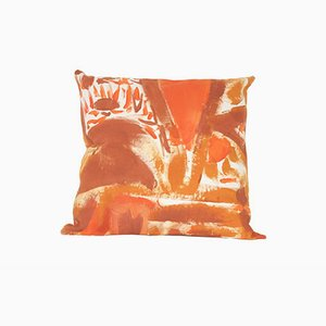 Rust Two Hue Painted Floor Cushion by Naomi Clark for Fort Makers