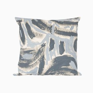 Grey Two Hue Painted Floor Cushion by Naomi Clark for Fort Makers