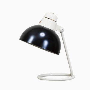 Schwarzweiße Schreibtischlampe von Philips