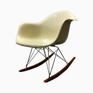 Beiger RAR Rocking Chair von Charles & Ray Eames für Fehlbaum