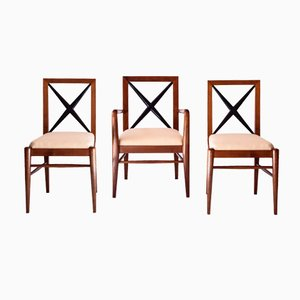 Elmwood Chairs by Tomaso Buzzi, 1930s, Set of 3