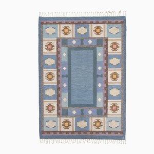 Mid-Century Swedish Flat-Weave Carpet by Ingegerd Silow