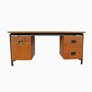 Niederländischer Schreibtisch aus Teak & Schwarzem Stahl von Cees Braakman für Pastoe, 1950er