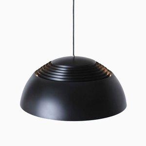 Danish Black Royal Pendant Lamp by Arne Jacobsen for Louis Poulsen, 1950s