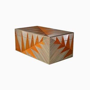 Boîte Marquetée Dorée Fougère par Violeta Galan