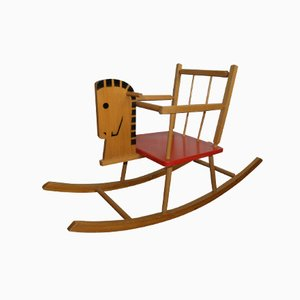 Vintage Wooden Children's Rocking Horse
