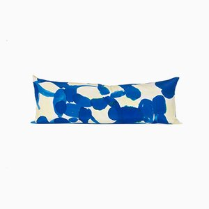 Blue and Yellow Molecule Snake Pillow by Naomi Clark for Fort Makers