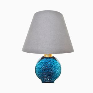 Mid-Century Water Drop Effect Glass Table Lamp