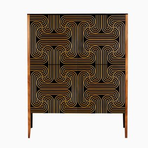 Gold Four Door Loop Cabinet by Coucou Manou