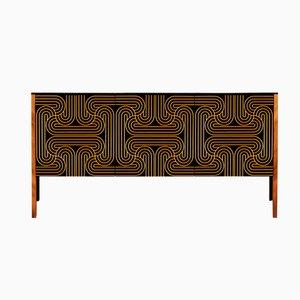 Goldenes Loop Sideboard mit 3 Türen von Coucou Manou