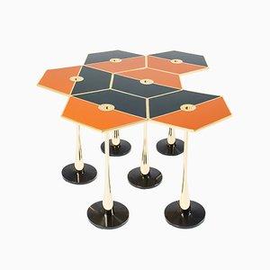Tavolo basso Perspectiva arancione di Fedele Papagni per Fragile Edizion