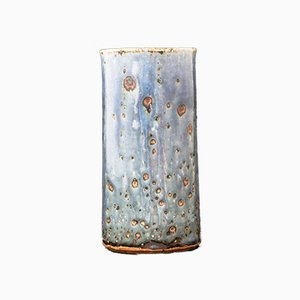 Blue & Green Stoneware Vase by Marianne Westman for Rörstrand, 1960s