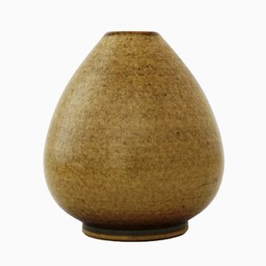 Teardrop Stoneware Vase by Erich & Ingrid Triller for Tobo, 1940s
