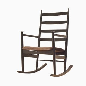 Mid-Century Swedish Wooden Rocking Chair by Poul M. Volther for Gemla
