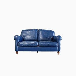 Blaues George Sofa aus Leder von Poltrona Frau, 1999