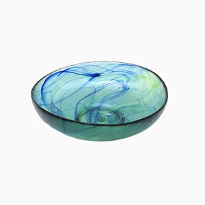 Mid-Century Modernist Hand-Blown Glass Bowl