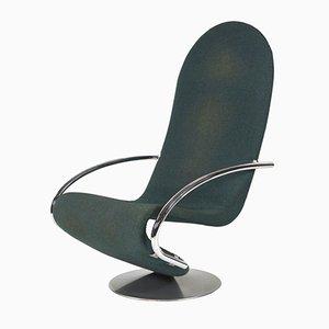 Danish 1-2-3 Swivel Lounge Chair by Verner Panton for Fritz Hansen, 1970s