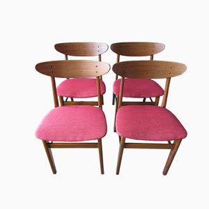 Dänische Buchenholz & Teak Stühle von Farstrup, 1950er, 4er Set