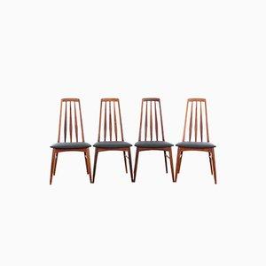 Eva Dining Chairs by Niels Kofoed for Koefoeds Møbelfabrik, 1964, Set of 4